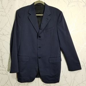 Canali Proposta Navy Blue Three Button Blazer